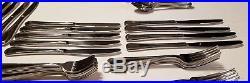 79 Piece Oneida Flight Reliance Stainless Flatware Silverware FORK SPOON KNIFE