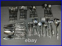 79 piece set Oneida BRAHMS Community Stainless Flatware 12 place settings +