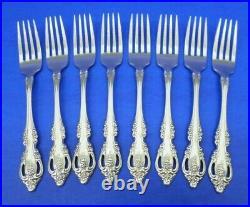 8 Oneida Community BRAHMS Glossy Stainless Flatware 7 1/4 DINNER FORKS