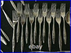 80 Pcs Serves 12 Oneida Oneidacraft Lasting Rose Stainless w4/Hostess + 16 Extra