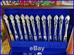 80 Piece Set ONEIDA Cube Stainless Flatware Glossy DOVER Service for 14