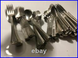 80 Pieces 1881 Oneida Beaded Artistry Stainless Flatware Set #PP