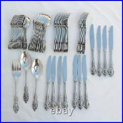 (81) Pcs Oneida Renoir / Pembrooke Stainless flatware set USA made Very Nice