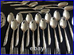 81 pieces vintage ONEIDA Community Twin Star Stainless Flatware Atomic MCM