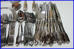 87 Pcs ONEIDA GLORIA Wm A Rogers Deluxe Stainless Steel Flatware Service for 12+