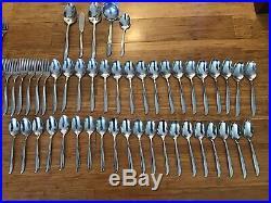 87 pieces retro vintage ONEIDA Community Twin Star Stainless Flatware Atomic set