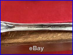90 Piece 1881 Rogers Stainless Oneida Flatware Arbor Rose Formal Set With Case