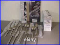 Brand New ONEIDA Satin Easton Heirloom Stainless lot of 58 pieces
