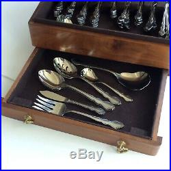 DUTCH AUCTION 80 pc set for 12 ONEIDA Cube Heirloom DOVER Stainless FLATWARE