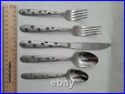 Daisy Frost Oneida Stainless Flatware Silverware 5 Piece Place Setting New