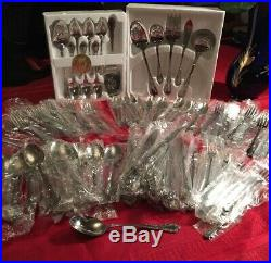 Distinction Deluxe Stainless Mansion Hill By Oneida HH 105 Pieces New Old Stock