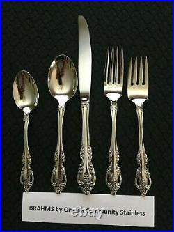Excellent! 51 Pcs Service For 8 Brahms Oneida Community Stainless with8 Hostess