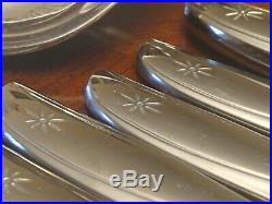 Excellent Vintage 107 Pc Oneida Community Twin Star Stainless Flatware Set NEW