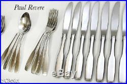 Good used shape service 8 ONEIDA PAUL REVERE 62 FLATWARE set stainless steel