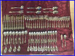 Gorgeous 80 Pc Oneida Berkeley Square Service for 12 Stainless, Hostess, Case USA