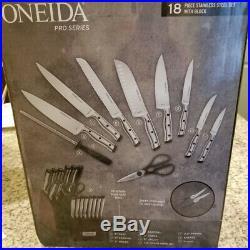 Knife Block Oneida 18-Piece Stainless Steel Cutlery Set Kitchen Cooking Cut