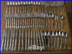 LOT 72 Pieces Fork Spoon Oneidacraft Chateau Stainless 610 Oneida Deluxe Floral