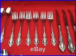 Lot of 42 Oneida Distinction Deluxe HH Stainless Flatware Service for 6 RAPHAEL
