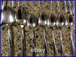 Lot of 51 Pieces ONEIDA Community Twin Star Stainless Flatware Serving Vintage