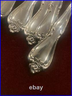 Lot of 55 pcs. 1881 ROGERS Oneida Ltd. ARBOR ROSE Stainless Flatware