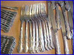 Lot of 70 Oneida DOVER Cube Stainless Flatware Glossy (Marked 2nd)
