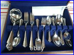 Lot of Oneida Stainless Julliard Flatware In Box 68 Pieces