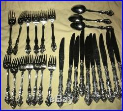 MICHELANGELO ONEIDA CUBE stainless Flatware KNIVES Salad Forks SMALL SPOONS VTG
