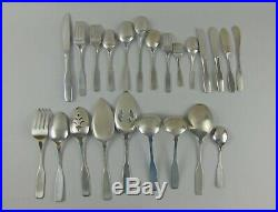 Massive 82pc Oneida Community Stainless PAUL REVERE Flatware Set withServing Pcs