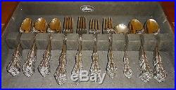 Minty Oneida Cube Stainless Flatware Set MICHELANGELO 86 Pcs. Service for 12 +++