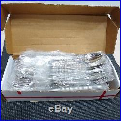 NEW 50 Pc ONEIDA CELLO Flatware Set Knife Fork Spoon 8 Place Setting Stainless