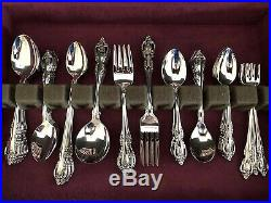 NEW HUGE 83 Pc Extended Set for 6 Oneida Brahms Community Stainless Flatware 01