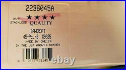 NEW IN BOX Oneida Bancroft 18/8 Stainless Steel USA Flatware 45 PC & SERVING SET