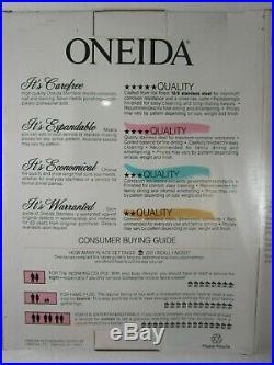 NEW! ONEIDA FLIGHT Reliance 8 place Stainless Flatware Set #9325 plus BONUS