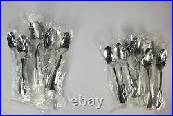 NEW Vintage Oneida American Ballad 70 Piece Stainless Flatware Set Service For 8