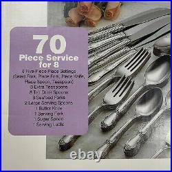 NEW Vintage Oneida Daydream Pattern 70 Piece Stainless Flatware Set Silverware