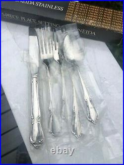 NIB Vintage Oneida Chateau (8) 5-Pc Place Settings Stainless Flatware NOS New