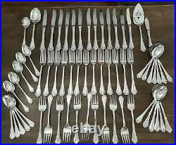 NICE 64 pc Lot Oneida Community MARQUETTE Stainless Flatware Set Service for 10+