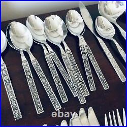 NORTHLAND Oneida Stainless Korea SPRING FEVER Flatware 66 Pieces