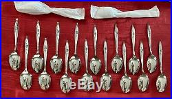 NOS 110pc Service for 18 Oneida Craft LASTING ROSE Stainless Flatware Set Vtg