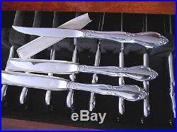NOS 94 PC. ONEIDA COMMUNITY CHATELAINE STAINLESS FLATWARE SET for 12 with CHEST