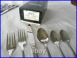 NOS ONEIDA ROGERS 50 PC. TWILIGHT STAINLESS FLATWARE SET for 8 Made in USA