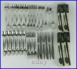 NOS Oneida Deluxe LASTING ROSE Stainless Flatware Set Service for 6+ 46pc