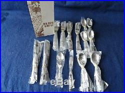 NOS Vintage Oneida Stainless Flatware Service for 8 Emily 50 pcs. Northland