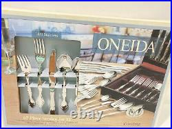 NWB Oneida 67 Pcs Service For 12 CANTATA 18/8 Stainless Steel Flatware + Chest