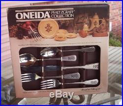 New 20 Pc (4 Pl Settin) Pfaltzgraff/oneida Village Flatware-silverware-stainless