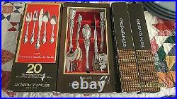 New in box Oneida Louisiana Community stainless flatware 30 pieces & hostess set