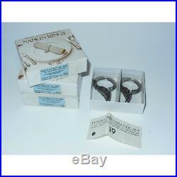 NewithOS Vintage 6-piece Oneida Cube Michelangelo Stainless Steel Napkin Ring Set
