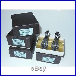 NewithOS Vintage 8-piece Oneida Cube Michelangelo Stainless Steel Napkin Ring Set