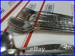 Northland Oneida Japan Stainless Flatware LOT Flowers Floral Knives Spoons Forks