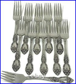 OCO Oneida U. S. A. Wordsworth Lot of 10 Dinner Forks Stainless and 1 Salad Fork